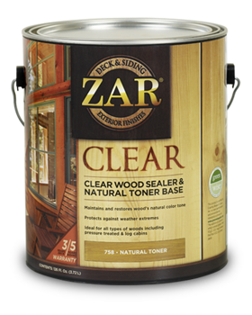 ZAR CLEAR WOOD SEALER & NATURAL TONER BASE