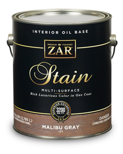 ZAR Interior Oil Base Stain 171 Malibu Gray